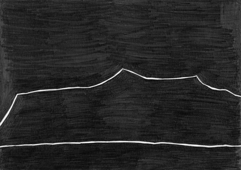 「無題 (SC 08-2012)」 O.T. (SC 08-2012) 2012, 29,7 x 21 cm, 紙に鉛筆 Graphit auf Papier