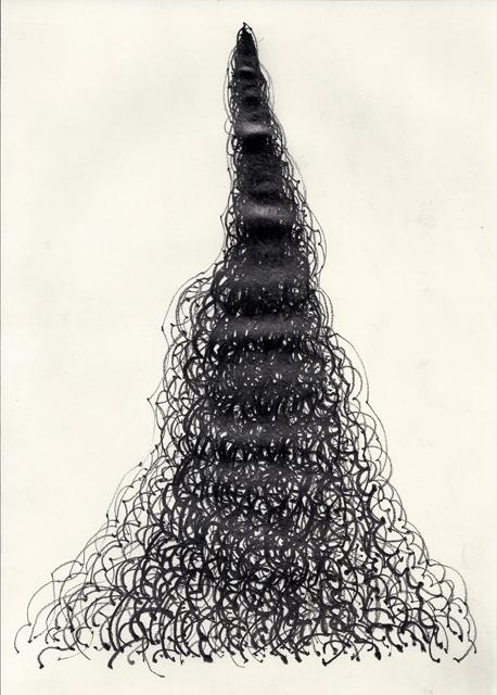 """「無題」 """"O.T."""", 2012, 29,7 x 21 cm, 紙に鉛筆 Graphit auf Papier"""