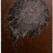 Carve Painting 2016 No.02 White & Black 2016 150×105.5 cm wood, acrylic paint, Japan paper, Kakishibu Photo: Takayuki Daikoku
