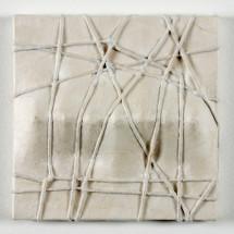 """七つの凸 """"Sieben Konvexitäten"""", Galerie-Edition von 20 (+3), 2013, 22 x 22 x 4,5 cm, オウシュウトウヒ・布・紐・和紙 Fichtenholz, Baumwolle, Kordel (Naturfaser), japanisches Papier; Foto: Jürgen Baumann"""