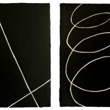 """白と黒の存在 """"Die Existenz des Weisen und des Schwarzen"""", 2012, アクリル絵具 Acyrilfarbe 20×30(cm) ; Foto Takayuki Daikoku"""
