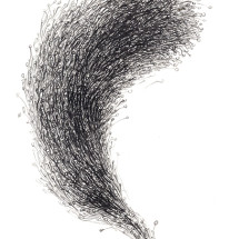 """「無題」 """"O.T."""", 2013, 29,7 x 21 cm, 紙に鉛筆 Graphit auf Papier"""