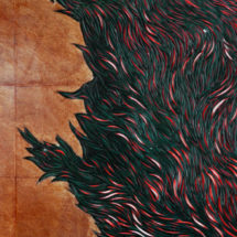 detail-CarvePainting(red-green-white-black)