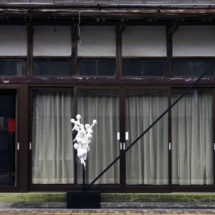 whitedrops & blackline No.3 -Nakamura house-, 2016, size variable, Mixed Media,Ofunato, Japan photo : Takayuki Daikoku