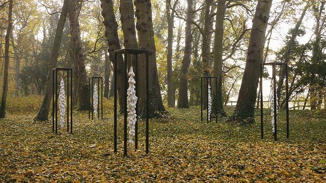 大黒貴之,ドイツ,秋の森,彫刻,現代アート