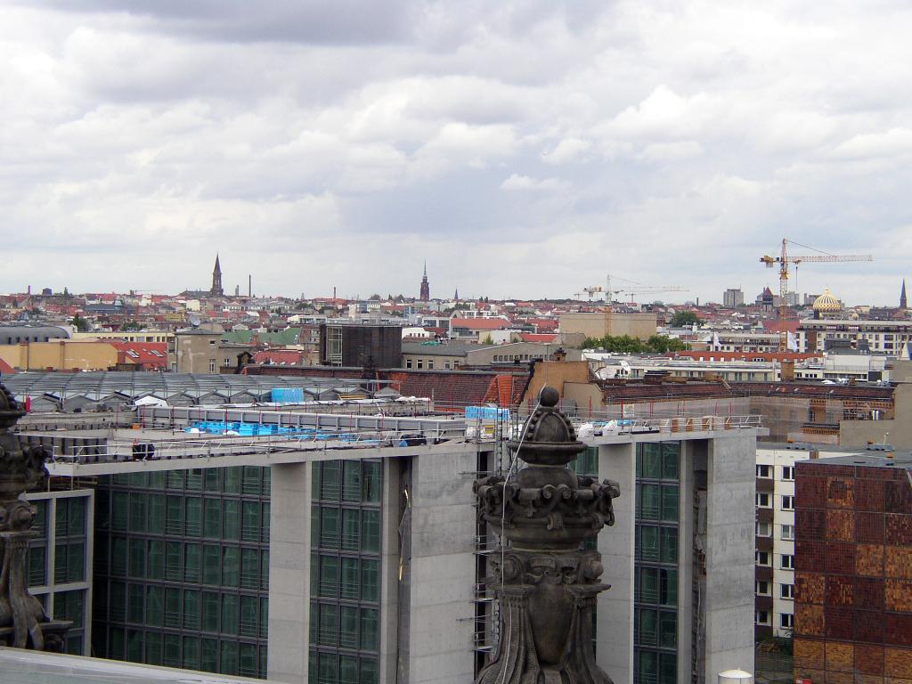 2002年のベルリン・ドイツ国会議事堂屋上からの眺め